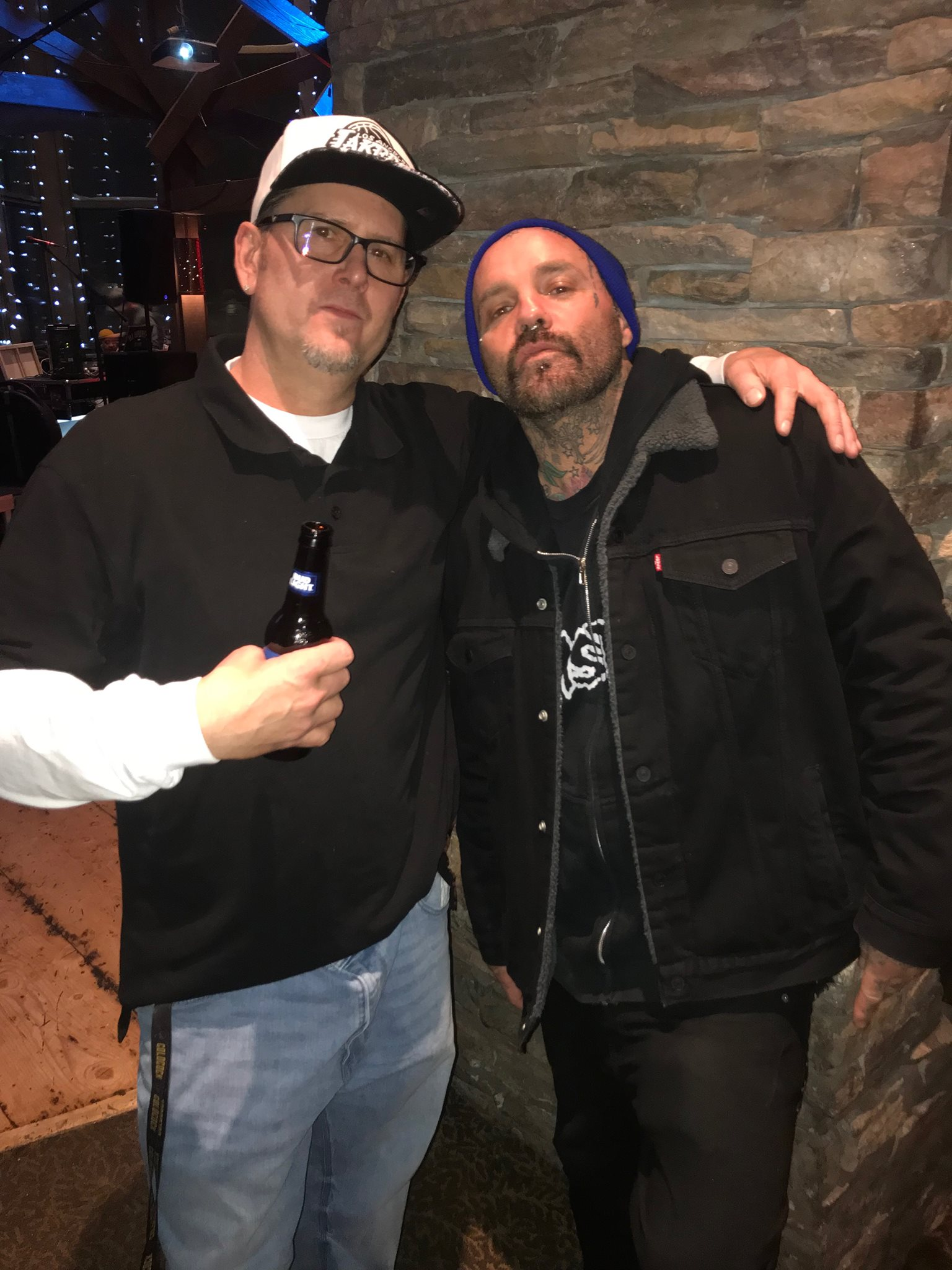 Shifty from the band Crazy Town and myself pre show.
