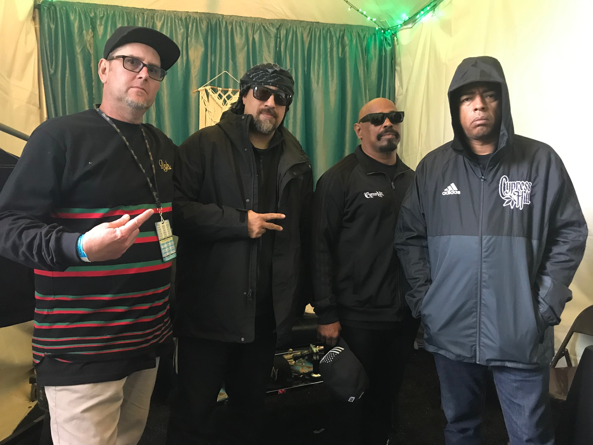 Back stage with the one and only Cypress Hill