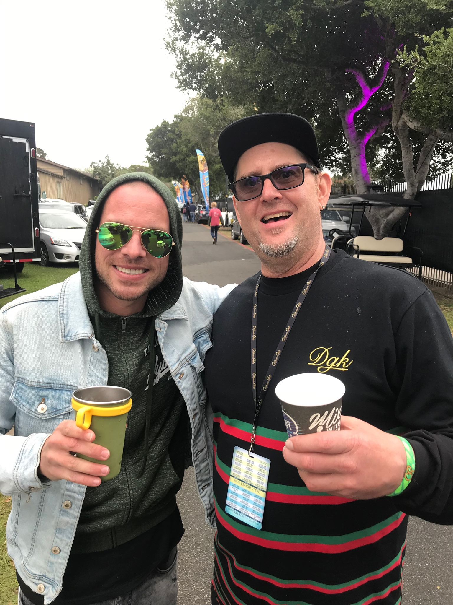 Hanging out Back stage with Collie Buddz